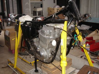 CB750 フロントフォーク取り付け前