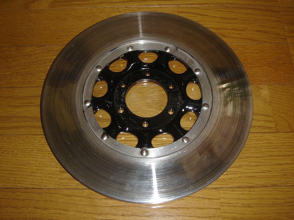CB750 フロントディスクブレーキのローター