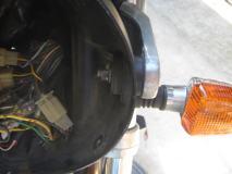 XJR1300 ヘッドライト取り付け部