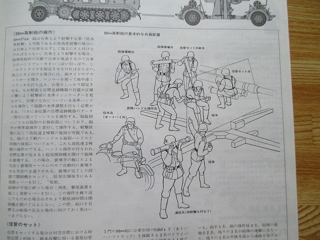 タミヤ 1/35 88ミリ砲 組み立て説明書