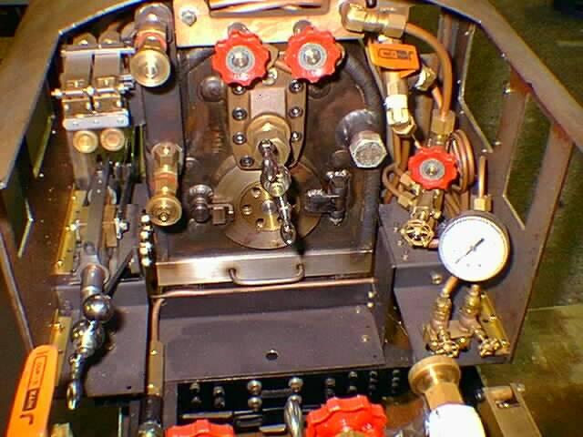5インチゲージ C62 運転室