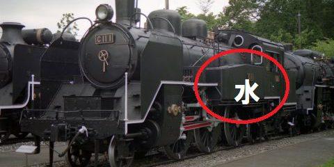 タンク機関車水タンク