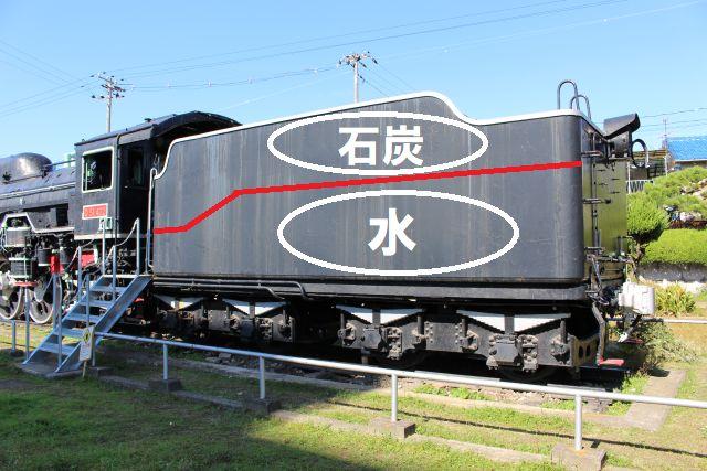 テンダー機関車のテンダー