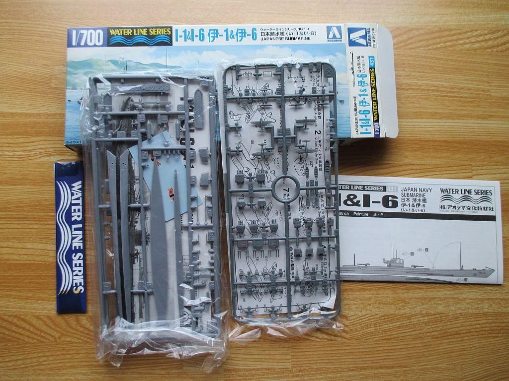 アオシマ 1/700 伊-1 & 伊-6 キット構成