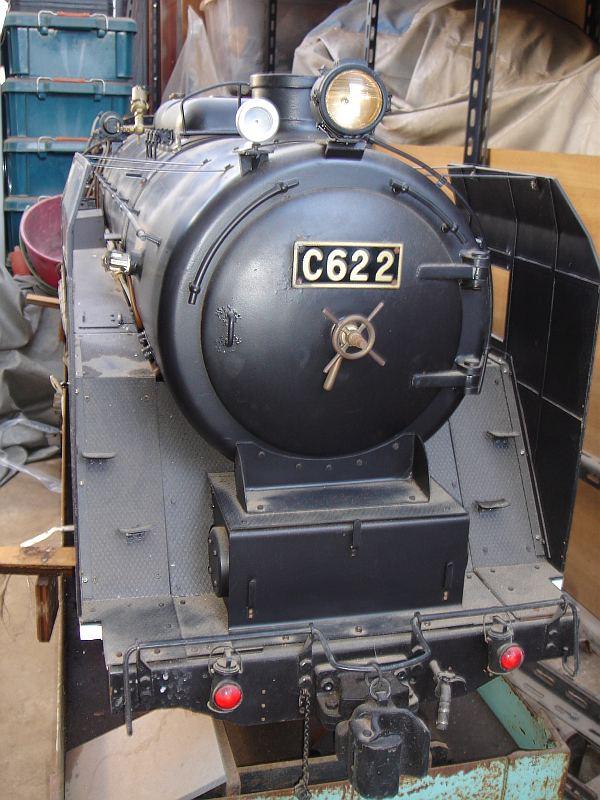 5インチゲージ C62 ナンバープレート
