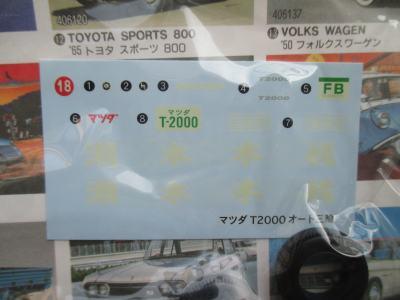 アリイ 1/32 マツダ T2000 幌付き デカール