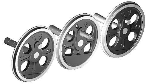 C62形蒸気機関車の動輪