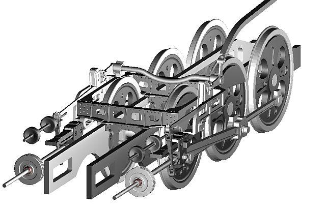蒸気機関車の走り装置