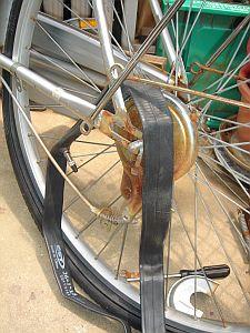 自転車のチューブ交換