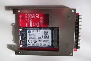 IDE変換アダプタに装着したmATA SDD