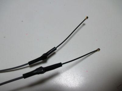 変換ケーブル接続部を熱収縮チューブで保護