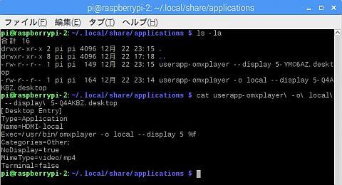 ラズパイ-アプリケーションを開く設定