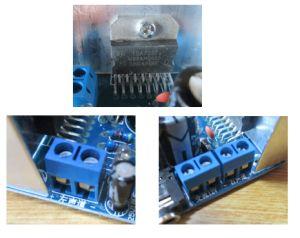 TDA7297アンプ基板 スピーカー端子