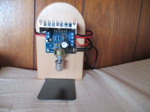 TDA7297アンプ基板取り付け