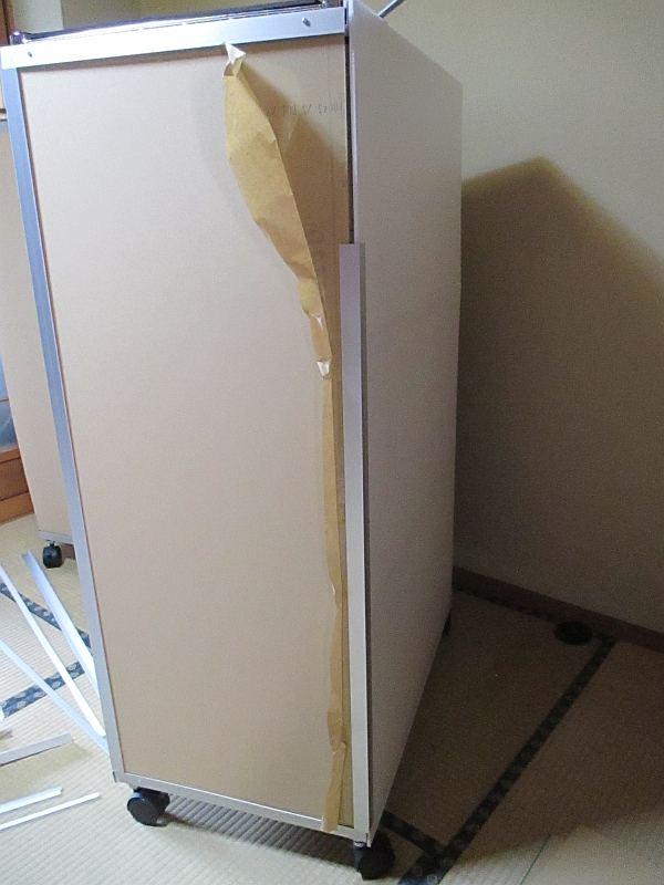 模型飾り棚の工作・側面の補強