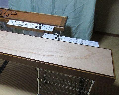 Nゲージレイアウト台枠のスタンド