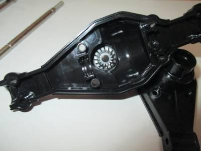 スカニア R620 リヤアクスルにドライブベベル組み込み