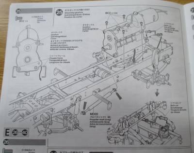 スカニア R620 ギヤボックス取り付け組み立て図