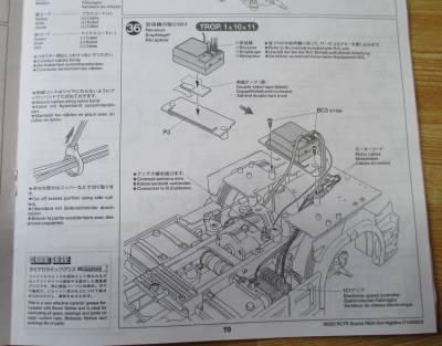 スカニア R620 受信機の取り付け説明図