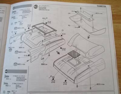 スカニア R620 ルーフスポイラー組み立て図