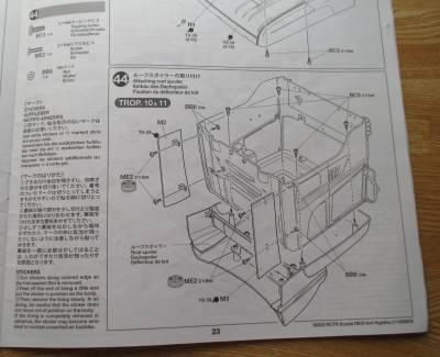 スカニア R620 ルーフスポイラー取り付け説明図