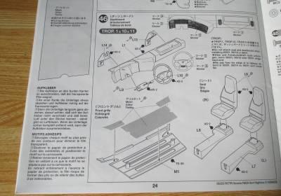 スカニア R620 ダッシュボード組み立て説明図