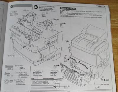 スカニア R620 ダッシュボードの取り付け説明図