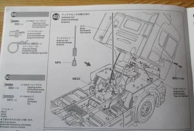スカニア R620 アンテナロッドの取り付け