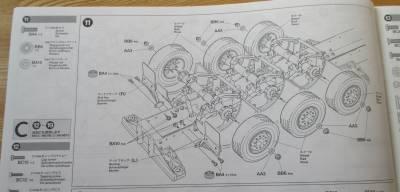 セミトレーラー タイヤ取り付け説明図