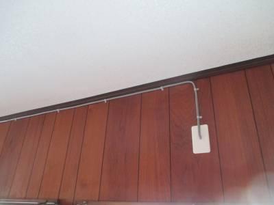 エアコン用電気工事 露出配線
