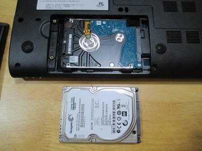 ハードディスク交換完了