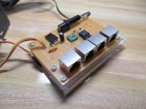 電圧レベル変換モジュールと他基板への接続用RJ45モジュラジャック