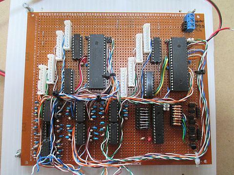 ポイントマシン用ステッピングモーターの制御基板(メイン台枠用)