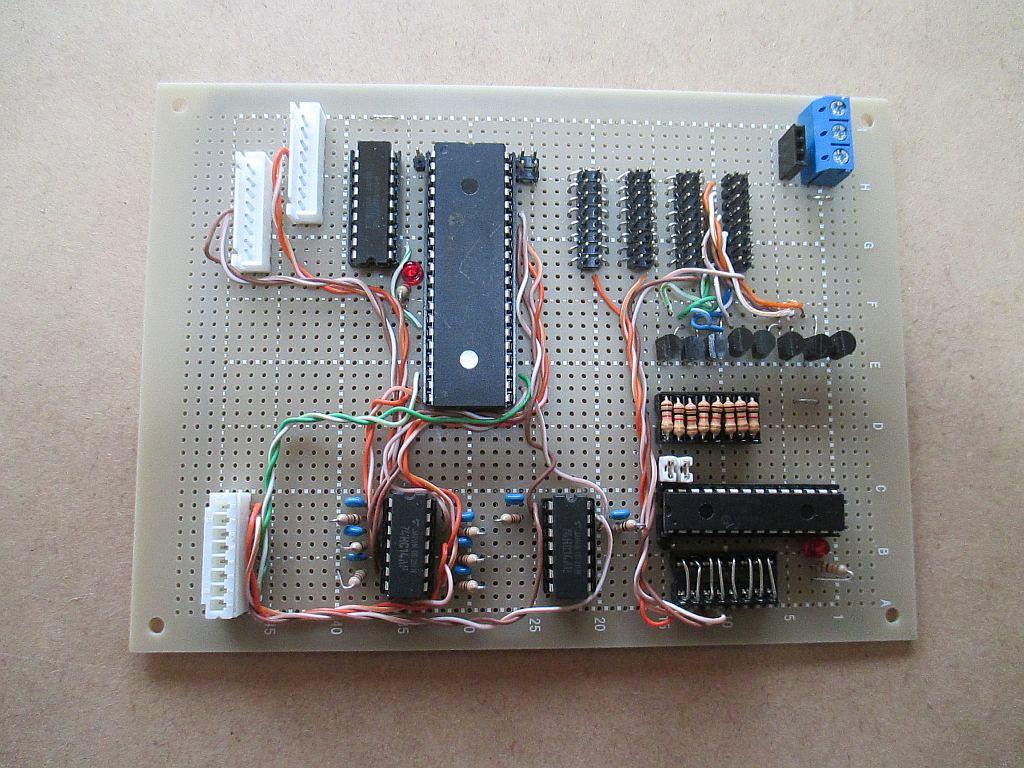 ポイントマシン用ステッピングモーターの制御基板(増設台枠用)