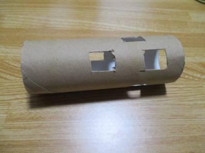風きり音対策 - トイレットペーパーの芯