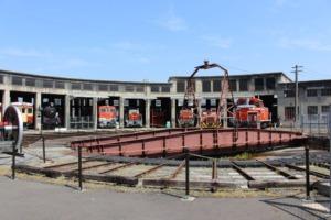 津山まなびの鉄道館 転車台
