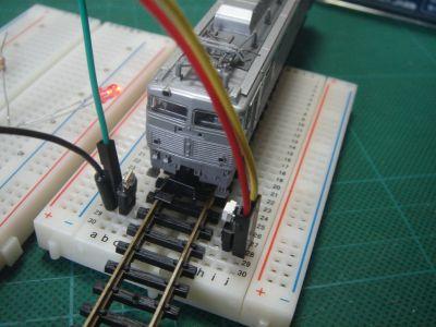 Mゲージ 踏切センサーのテスト