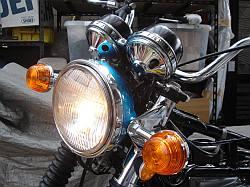 CB750 ヘッドライト