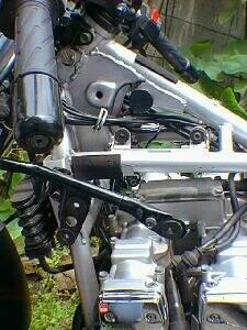 パワーアシストクラッチ用ブースタモーターを取り外した状態