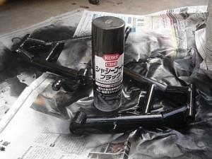 シヤシブラックで塗装