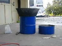 ドラム缶のカマド