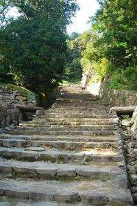 安土城への石段