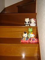 階段に..