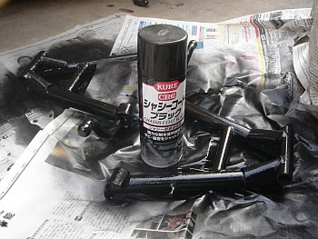 GT125 メインスタンド塗装