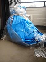 GT125 ビニールシートに梱包