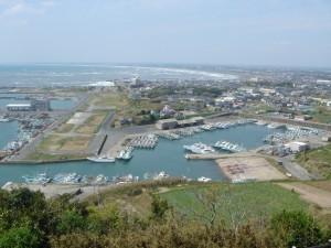 飯岡の漁港