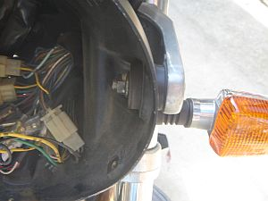 XJR1300 ヘッドライトケース