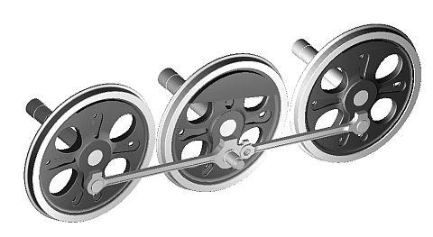 連結棒と動輪