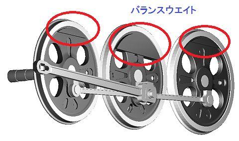 動輪のバランスウエイト