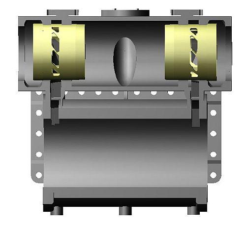 シリンダ体と蒸気室ブッシュ